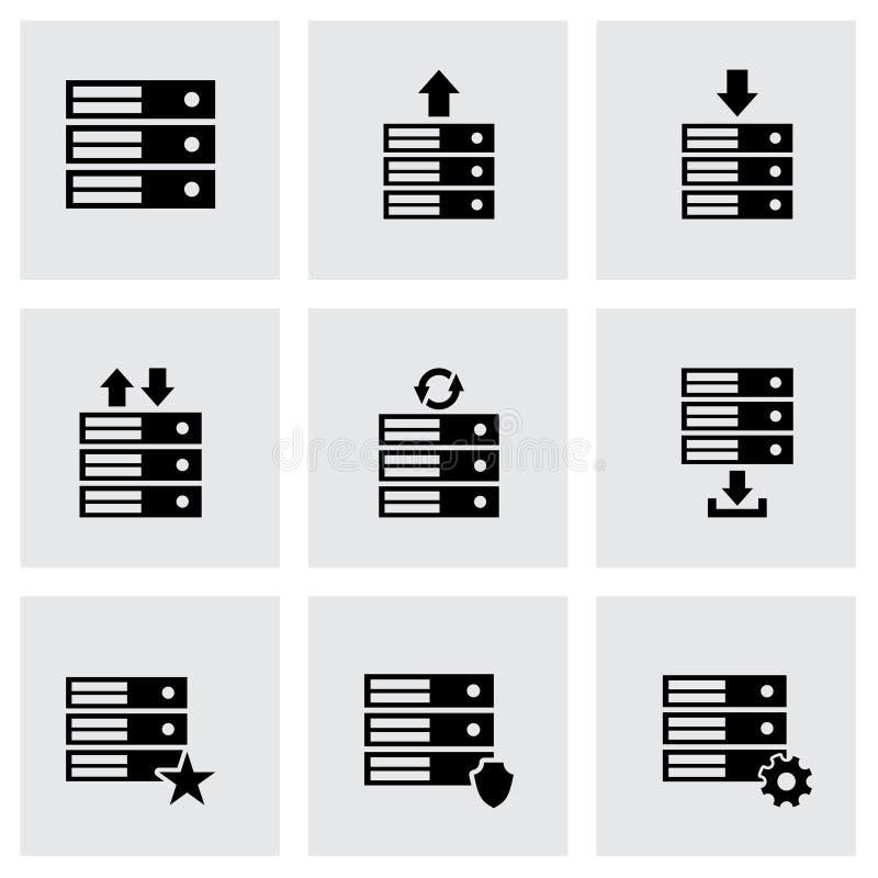 Ensemble d'icône de base de données de vecteur illustration libre de droits