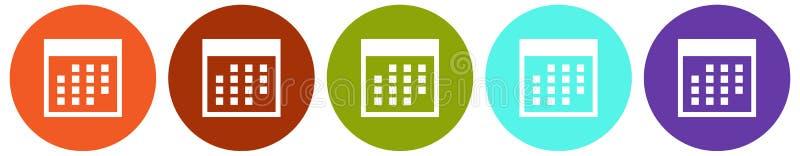 Ensemble d'icône de calendrier photos libres de droits
