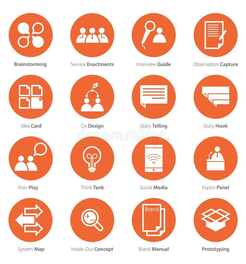 Ensemble d'icône de carrière d'affaires, lançant sur le marché dans la conception plate images libres de droits