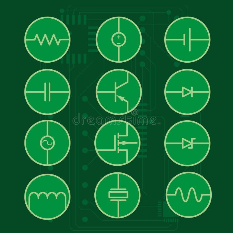 Ensemble d'icône de circuit image libre de droits