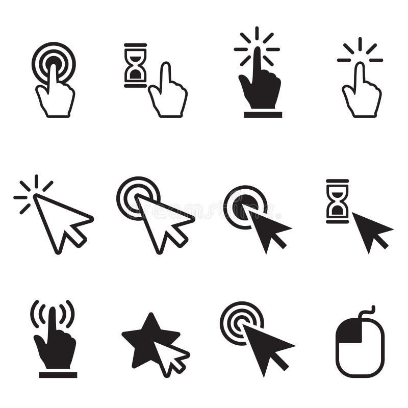 Ensemble d'icône de clic illustration libre de droits