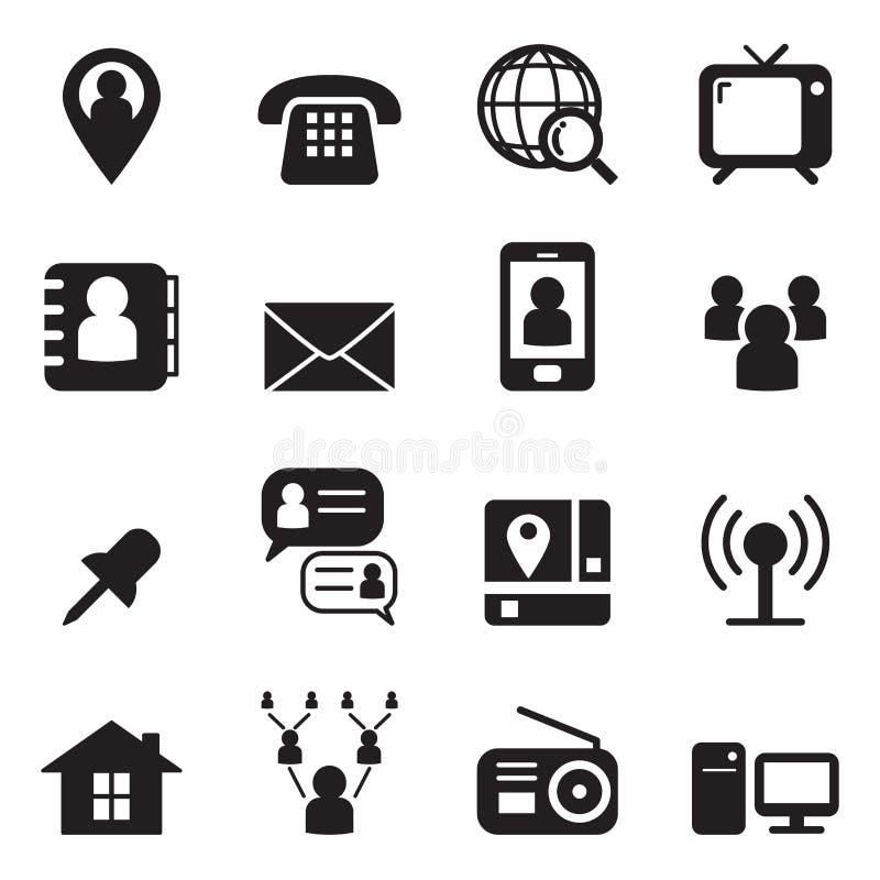 Ensemble d'icône de contact illustration libre de droits
