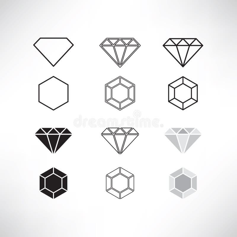 Ensemble d'icône de diamant image libre de droits