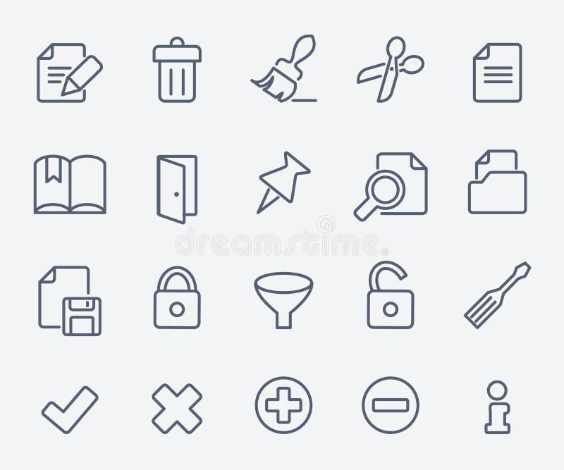 Ensemble d'icône de document illustration de vecteur