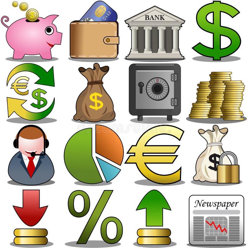 Ensemble d'icône de finances illustration stock