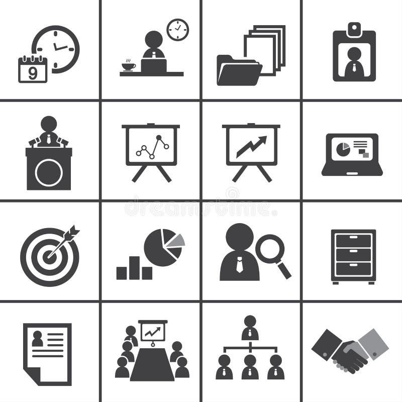 Ensemble d'icône de gestion d'organisation et d'entreprise illustration libre de droits