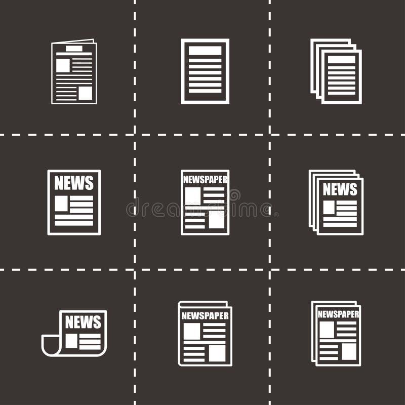 Ensemble d'icône de journal de vecteur illustration stock