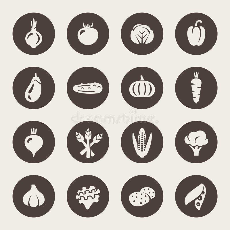 Ensemble d'icône de légumes