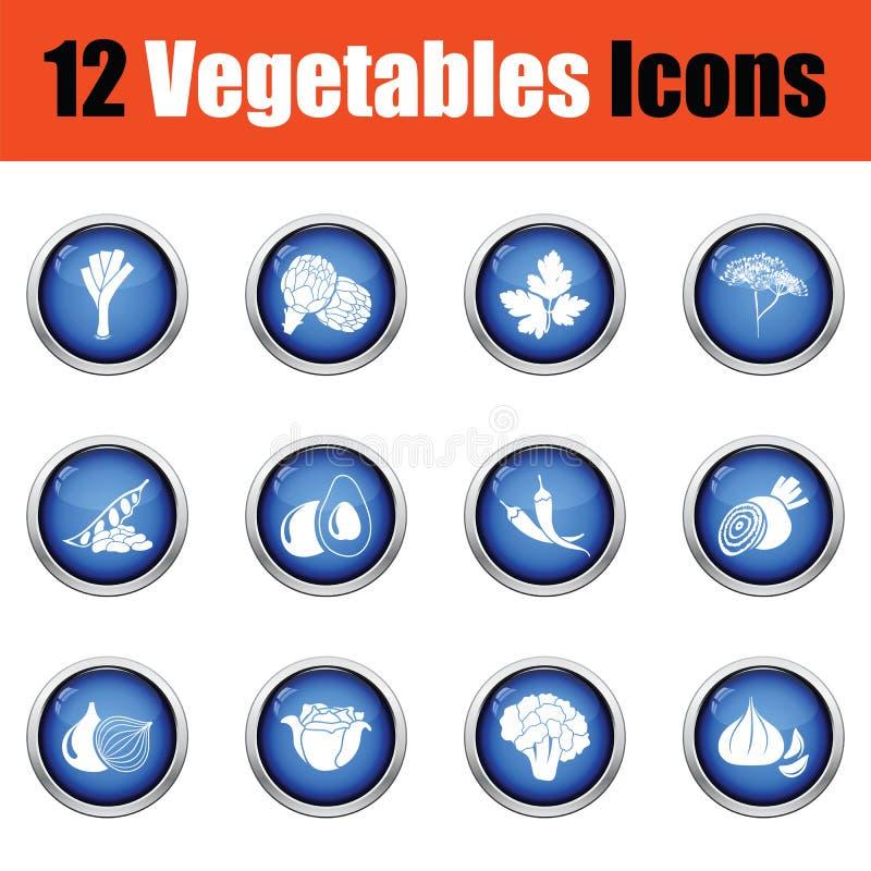 Download Ensemble D'icône De Légumes Illustration de Vecteur - Illustration du fleur, couleur: 77160525