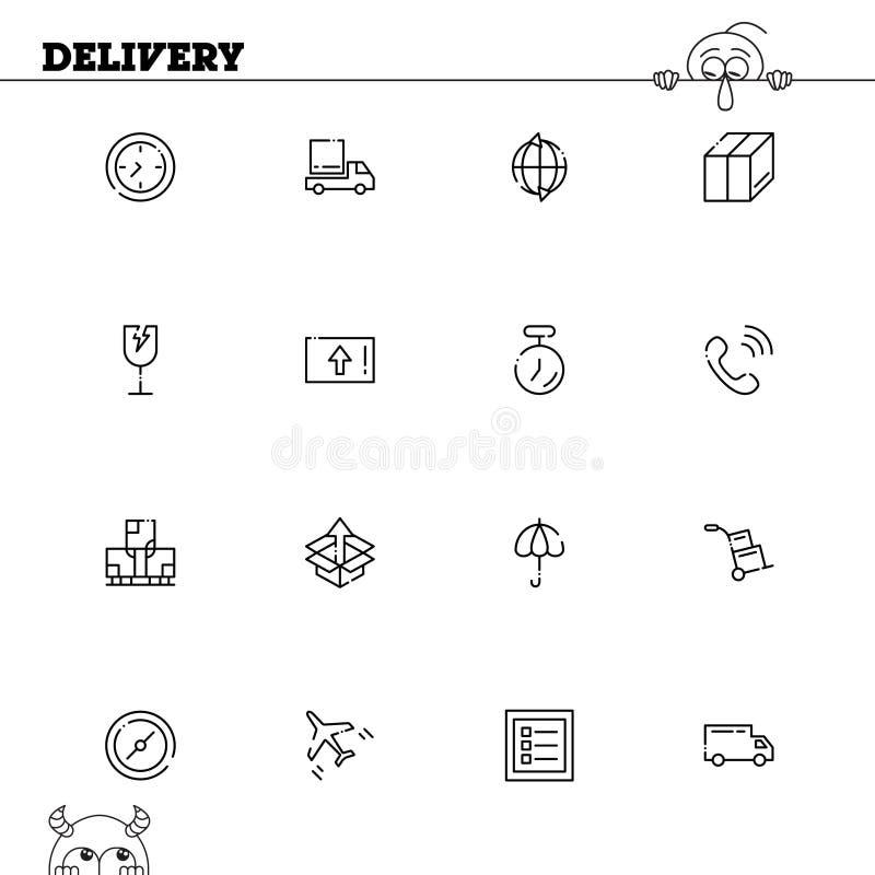 Ensemble d'icône de la livraison illustration stock