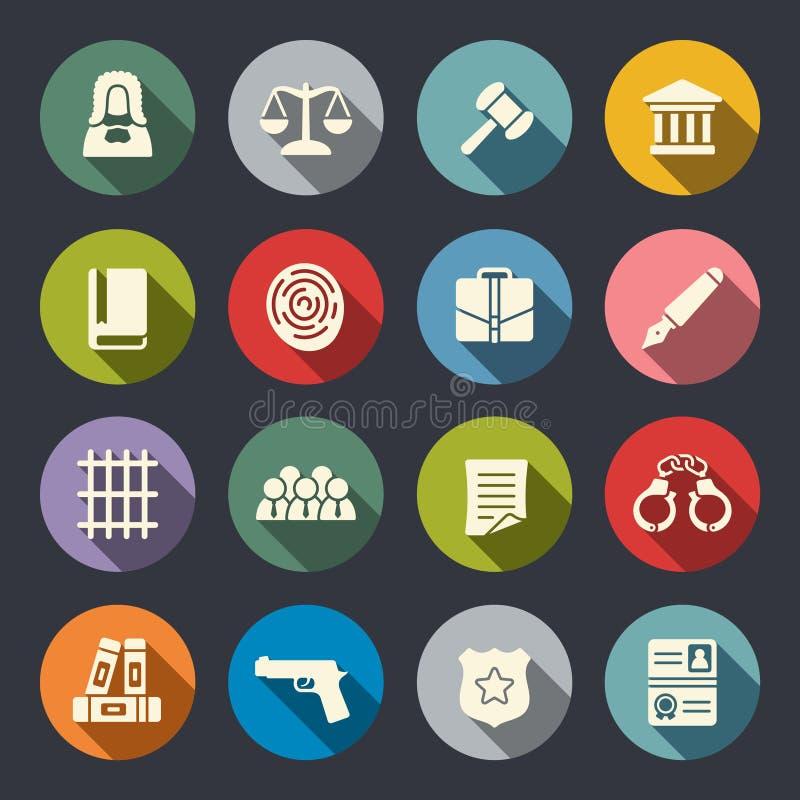 Ensemble d'icône de loi illustration de vecteur