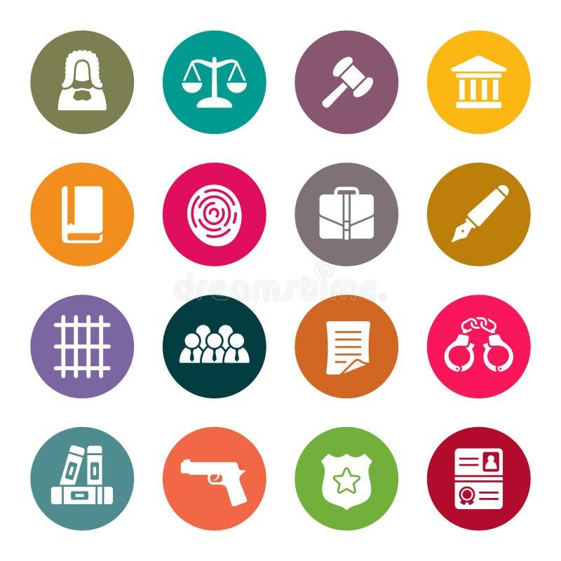 Ensemble d'icône de loi illustration stock