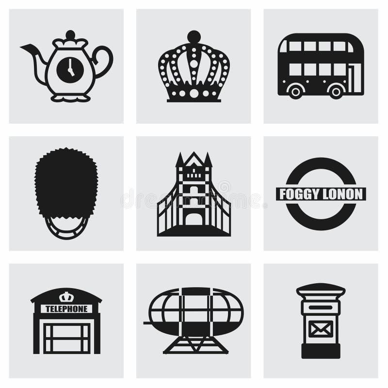 Ensemble d'icône de Londres de vecteur illustration stock