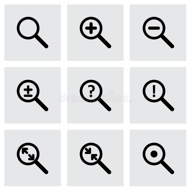 Ensemble d'icône de loupe de vecteur photographie stock