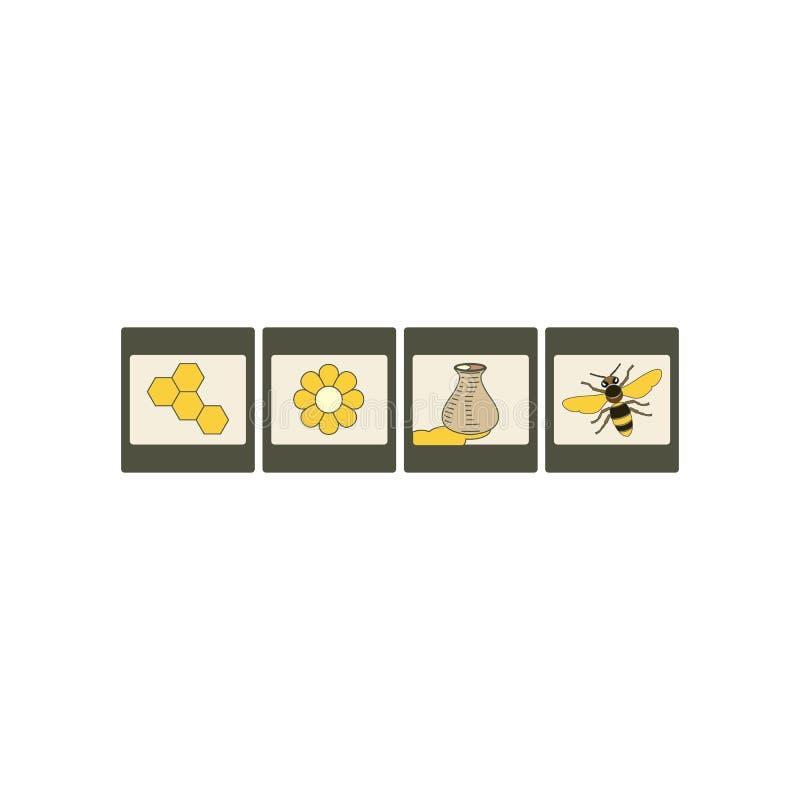 Ensemble d'icône de miel illustration libre de droits