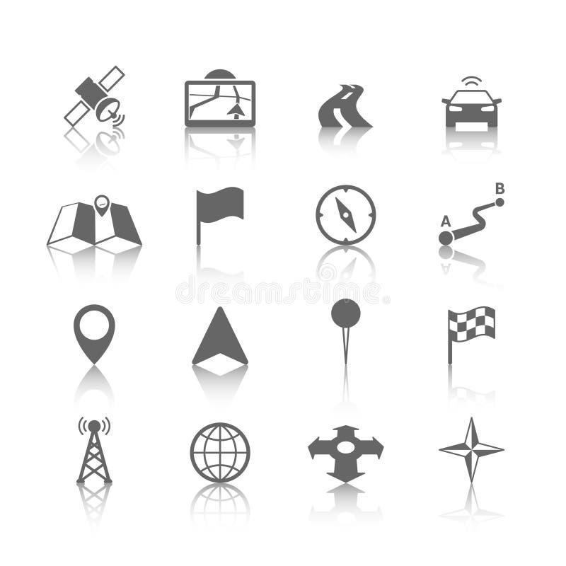 Ensemble d'icône de navigation illustration de vecteur