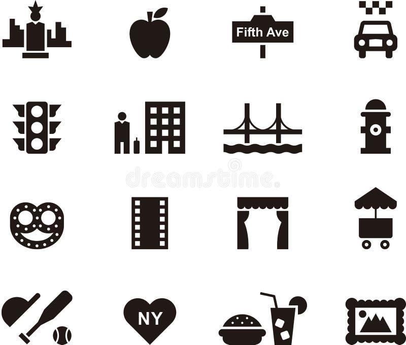 Ensemble d'icône de New York illustration de vecteur
