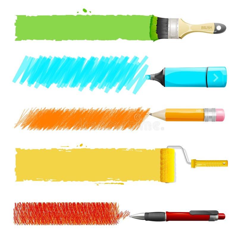 Ensemble d'icône de peinture de vecteur illustration de vecteur
