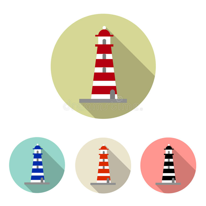 Ensemble d'icône de phare illustration libre de droits