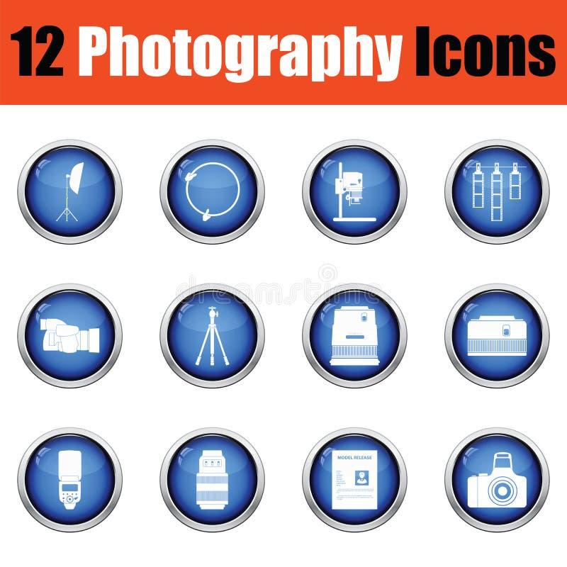 Download Ensemble D'icône De Photographie Illustration Stock - Illustration du lentille, instruction: 77159990