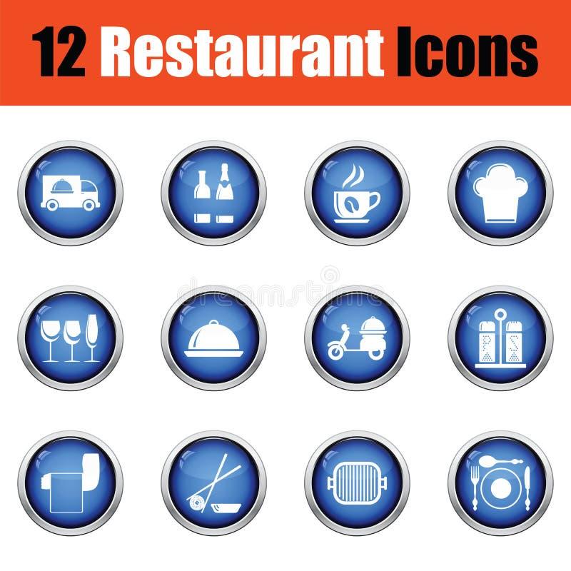 Download Ensemble D'icône De Restaurant Illustration de Vecteur - Illustration du restaurant, plat: 77159122