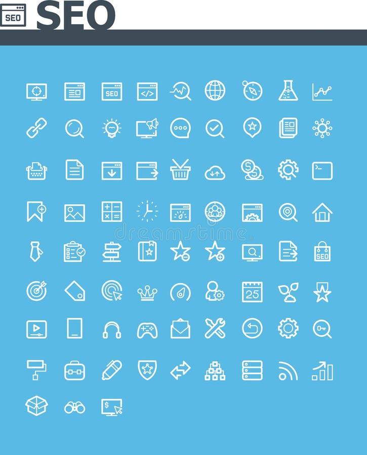 Ensemble d'icône de SEO illustration libre de droits