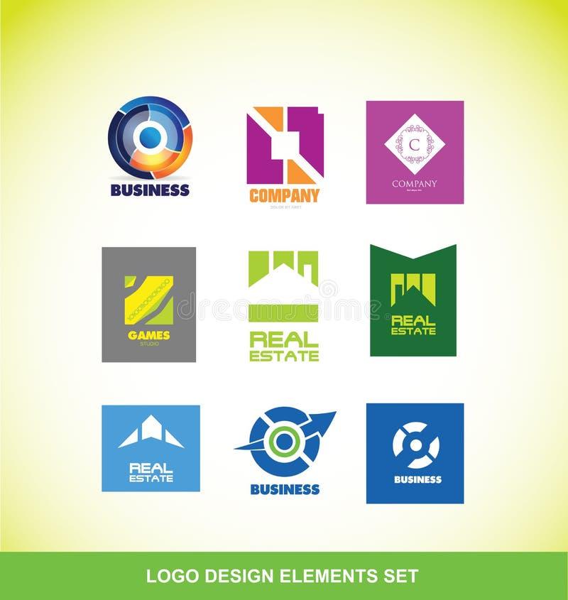 Ensemble d'icône de société d'éléments de logo illustration libre de droits