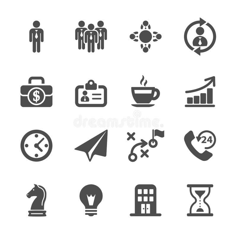 Ensemble d'icône de stratégie commerciale, vecteur eps10 illustration libre de droits