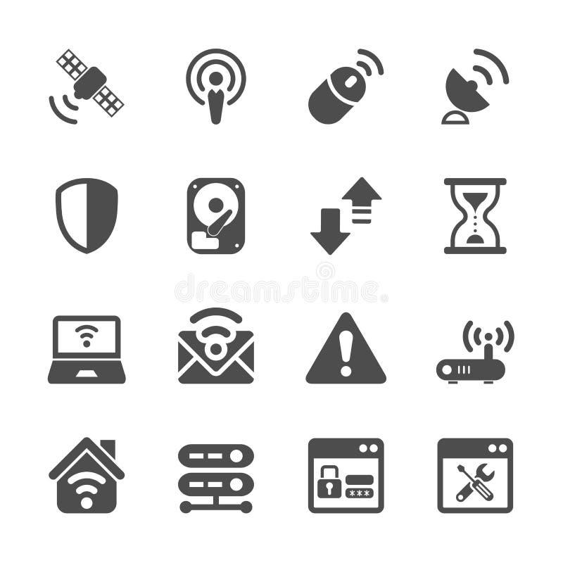 Ensemble d'icône de technologie de réseau sans fil, vecteur eps10 illustration de vecteur