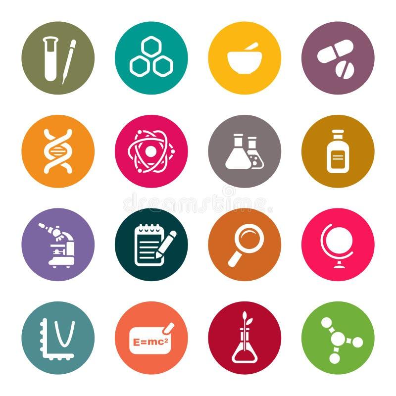 Ensemble d'icône de thème de la Science illustration de vecteur
