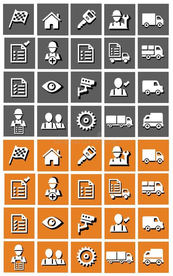 Ensemble d'icône de transport photographie stock libre de droits