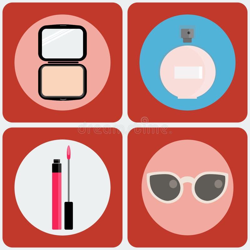 Ensemble d'icône de vecteur de beauté illustration libre de droits