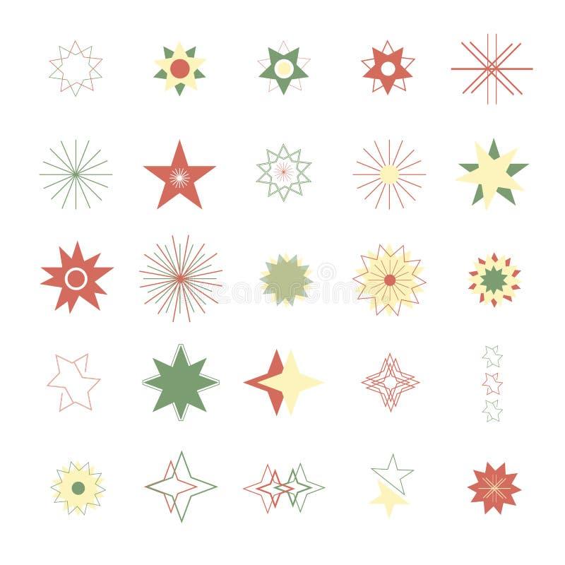 Ensemble d'icône de vecteur de forme d'étoile illustration de vecteur