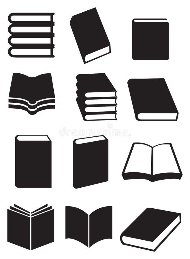 Ensemble d'icône de vecteur de livres illustration libre de droits