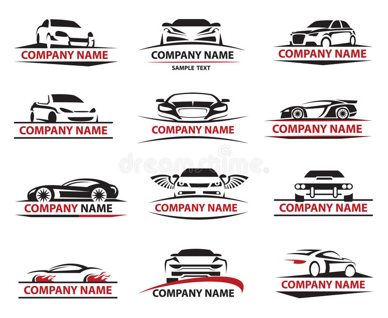 Ensemble d'icône de voiture illustration libre de droits