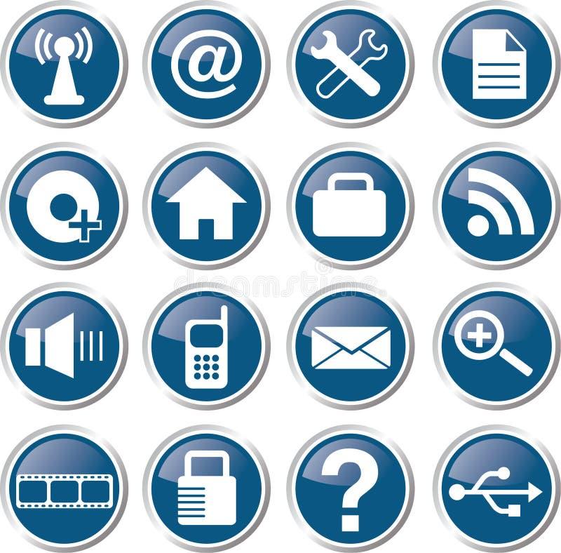 Ensemble d'icône de Web illustration stock