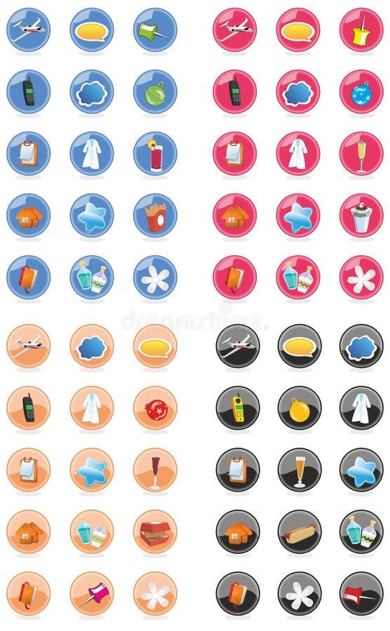 Ensemble d'icône de Web et d'Internet illustration de vecteur