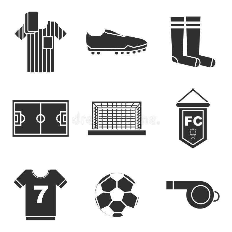 Ensemble d'icône du football illustration libre de droits