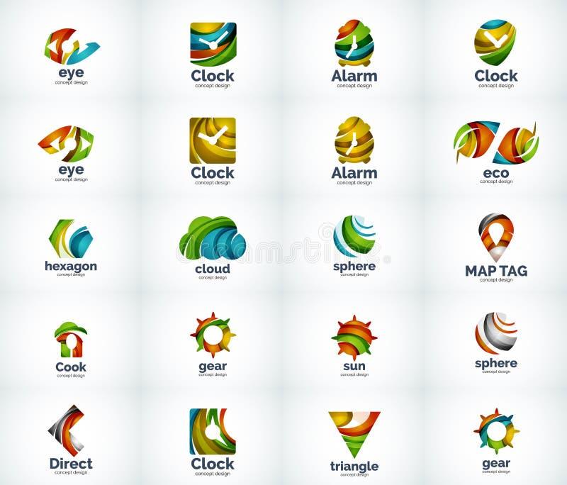 Download Ensemble D'icônes Abstraites De Logo De Vecteur Illustration de Vecteur - Illustration du bouton, alarme: 76079760
