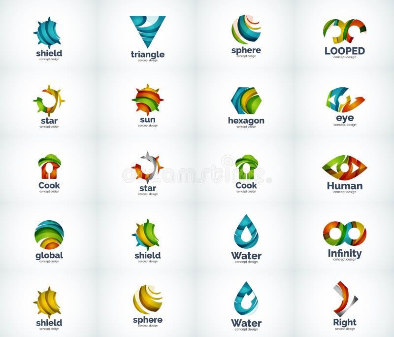Download Ensemble D'icônes Abstraites De Logo De Vecteur Illustration de Vecteur - Illustration du trains, lustré: 76079814