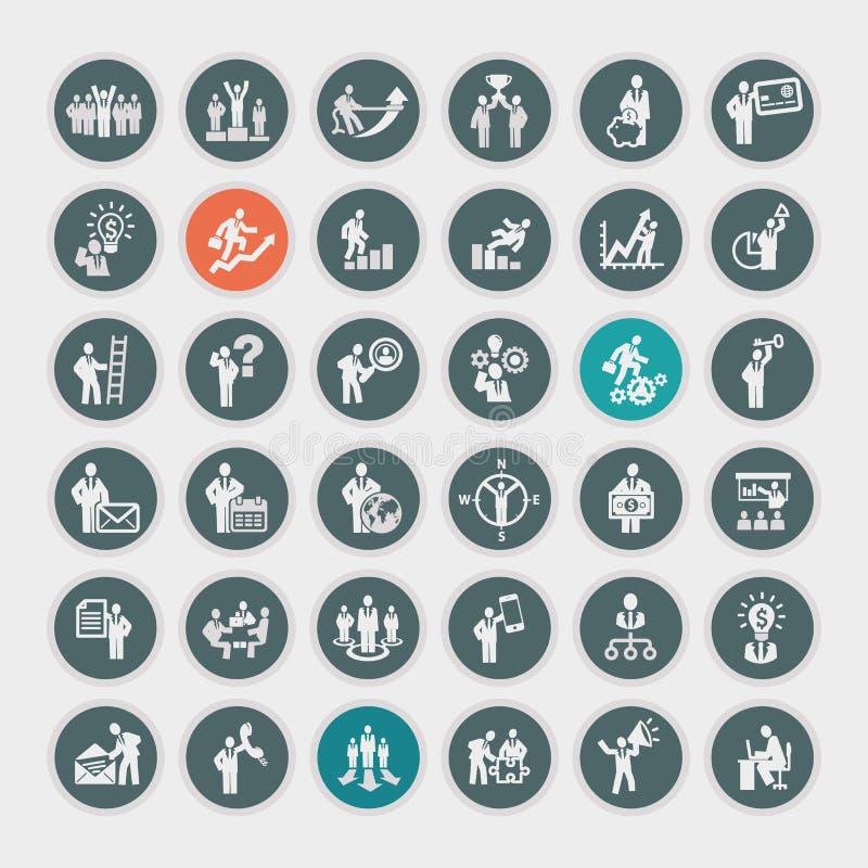 Ensemble d'icônes d'affaires illustration libre de droits