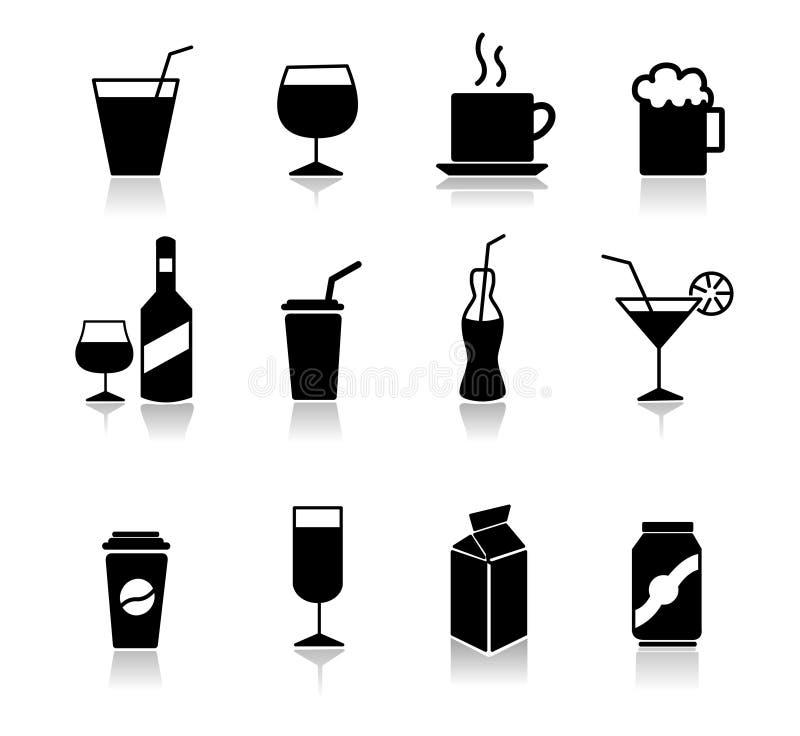 Ensemble d'icônes de boissons illustration stock