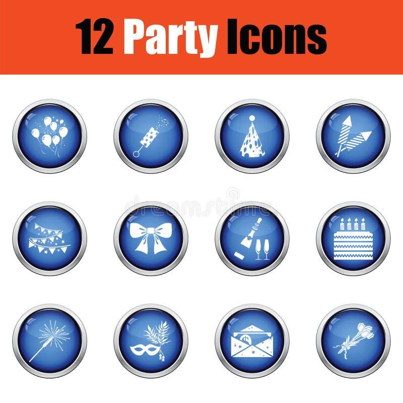 Download Ensemble D'icônes De Célébration Illustration de Vecteur - Illustration du célébrez, indicateur: 77160256
