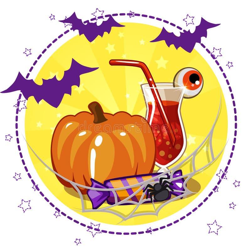 Download Ensemble D'icônes, De Cocktails Et De Potiron Pour Halloween Illustration de Vecteur - Illustration du cupcake, humain: 76078632