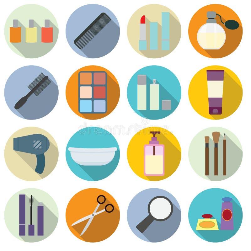 Ensemble d'icônes de cosmétiques illustration stock