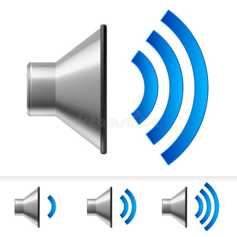 Ensemble d'icônes de haut-parleur illustration de vecteur