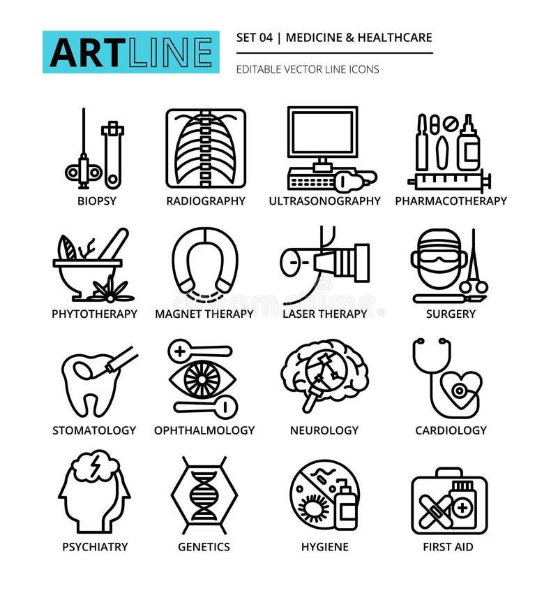 Download Ensemble D'icônes De Médecine Et De Soins De Santé Illustration de Vecteur - Illustration du editable, hygiène: 77156033