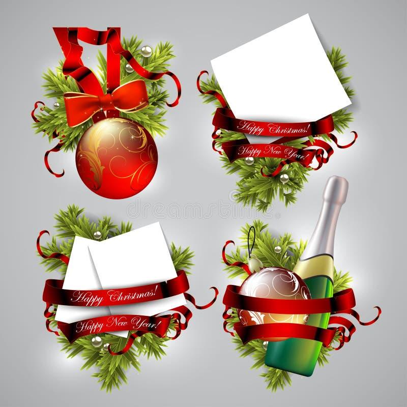 Ensemble d'icônes de Noël illustration libre de droits