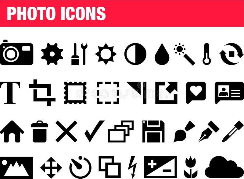 Ensemble d'icônes de photo illustration libre de droits
