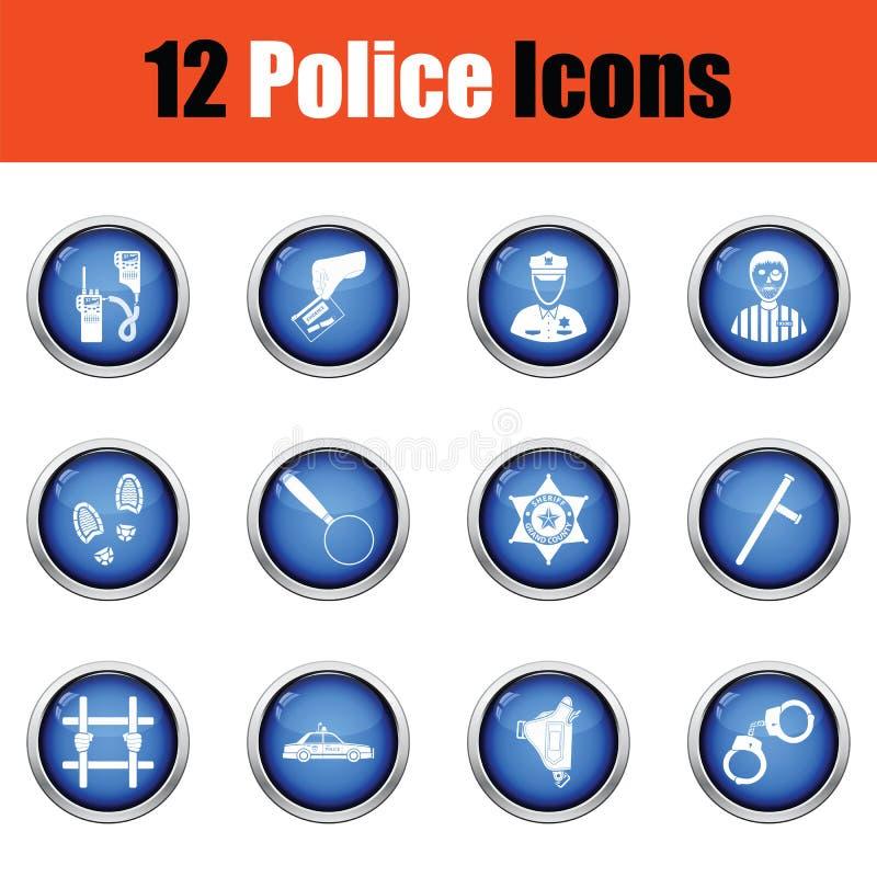 Download Ensemble D'icônes De Police Illustration Stock - Illustration du scanner, homme: 77160870